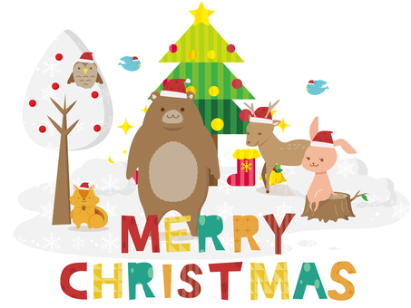 Forest animals and Christmas 2