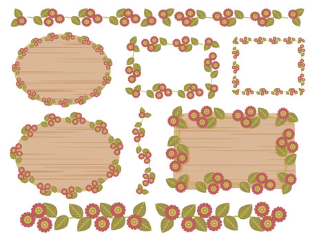Floral line and frame
