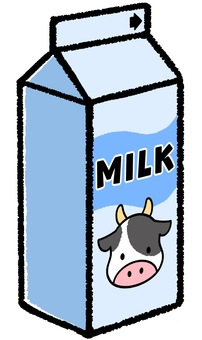 Illustration of milk ①
