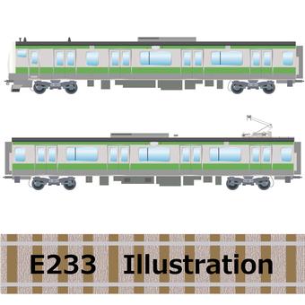 Commuter train E233 series Yamanote line illustration