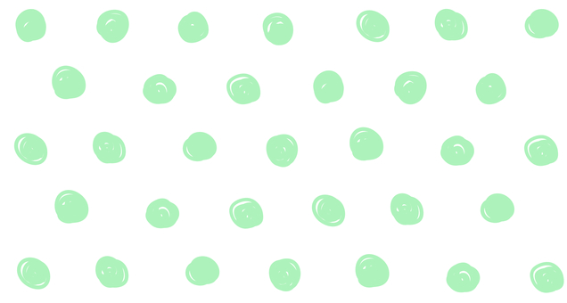 Hand drawn dots (green)