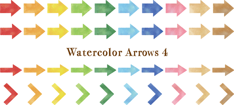 Watercolor touch arrow set 4