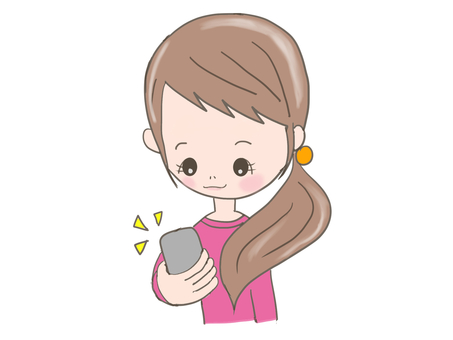 Girl looking at mobile