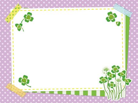 Spring clover and white clover frame 03