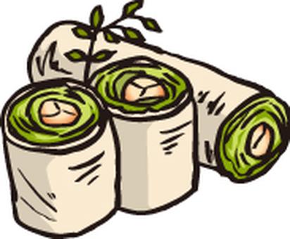 Raw spring roll