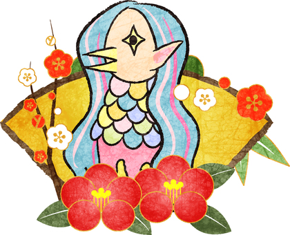 日本紙水彩風格的Amabier