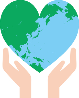 Heart _ Earth _ both hands