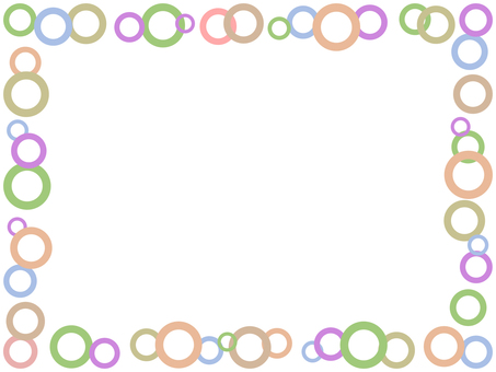 Circle frame colorful decorative frame material illustration