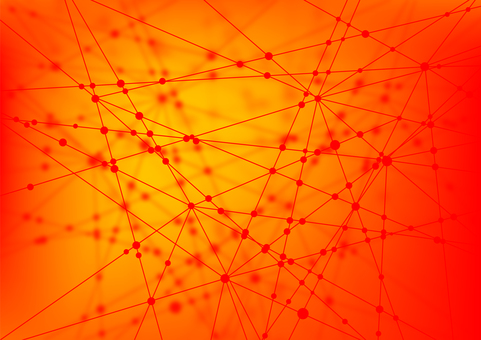 Red network abstract background material