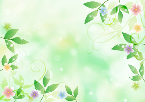 Fresh green and flower background