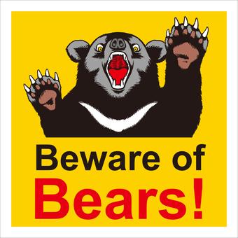 곰은 6에주의를 기울인다.