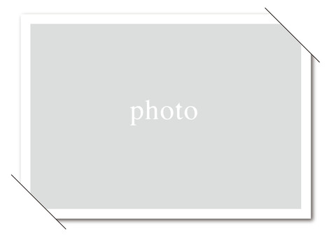 Simple photo frame card white (wallpaper)