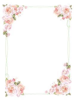 Story notes frame 3-rose letter pad