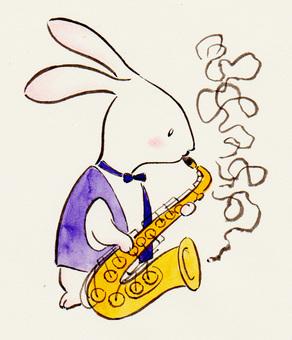 색소폰 토끼 1