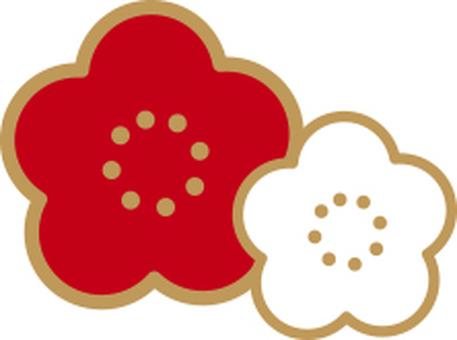 Mei white red gold Yuan