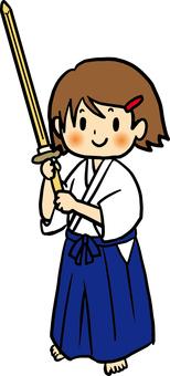 Stand of wood sword 4c_ Kendo style, Iaido way