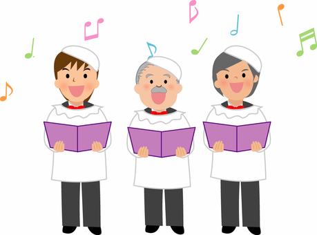 音楽イラスト 教会男声合唱