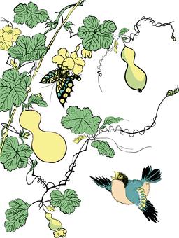 Digital Japanese Painting Hyouta · Butterfly / Bird Set