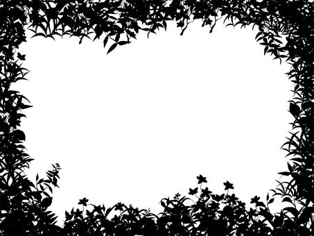 잎 식물 수채화 프레임 4 그림자