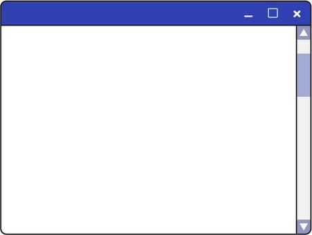 Personal computer screen _ blue