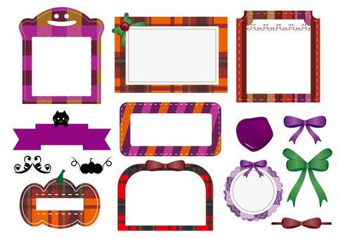 Stylish Halloween frame set