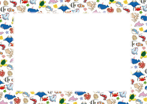 A collection of sea creatures! Stationery 01