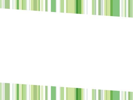 "Striped frame ""Green"""