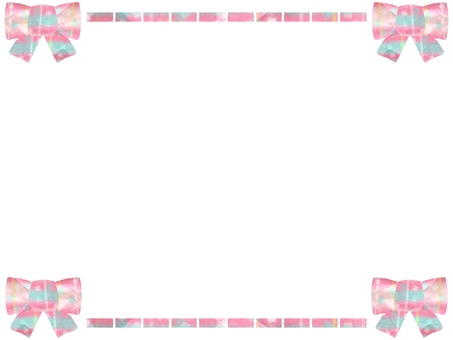 Girly plaid ribbon frame