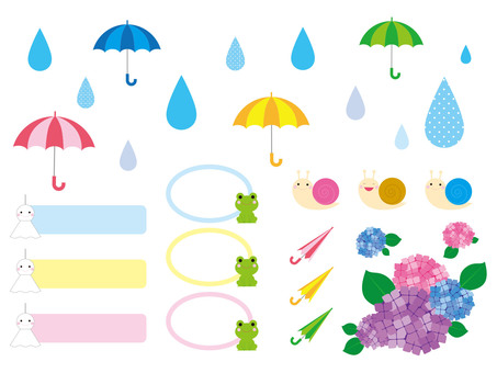 Rainy day & rainy day pop illustration material