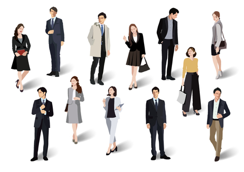 Office fashion man and woman 【1】