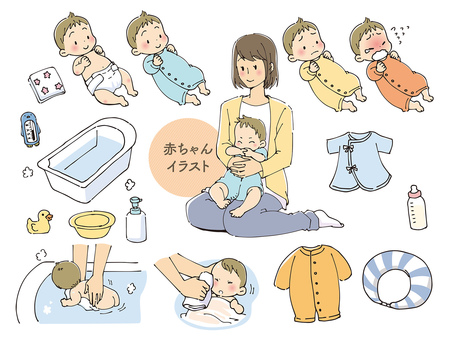 Baby related illustrations
