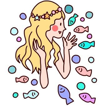 Fairy tale mermaid princess