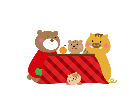 The warm-hearted kotatsu is warm ♪