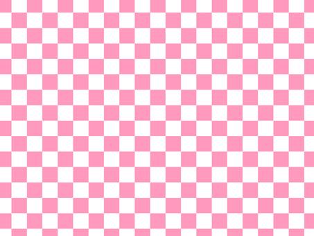 Pink check pattern wallpaper