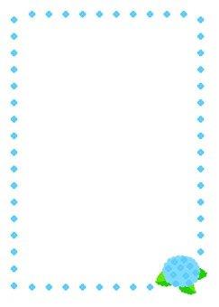 繡球幀(藍色)
