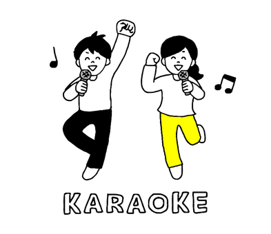 Men and women who enjoy karaoke (simple)
