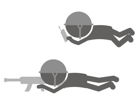 Stickman pictogram _ ambush