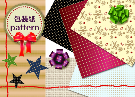 Gift wrapping paper pattern material