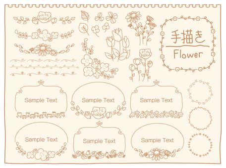 Hand-painted flower set 02