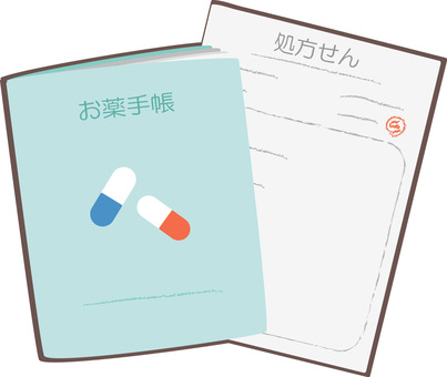 Medication notebook and prescription