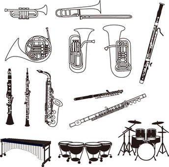 Instrument Black and White Set