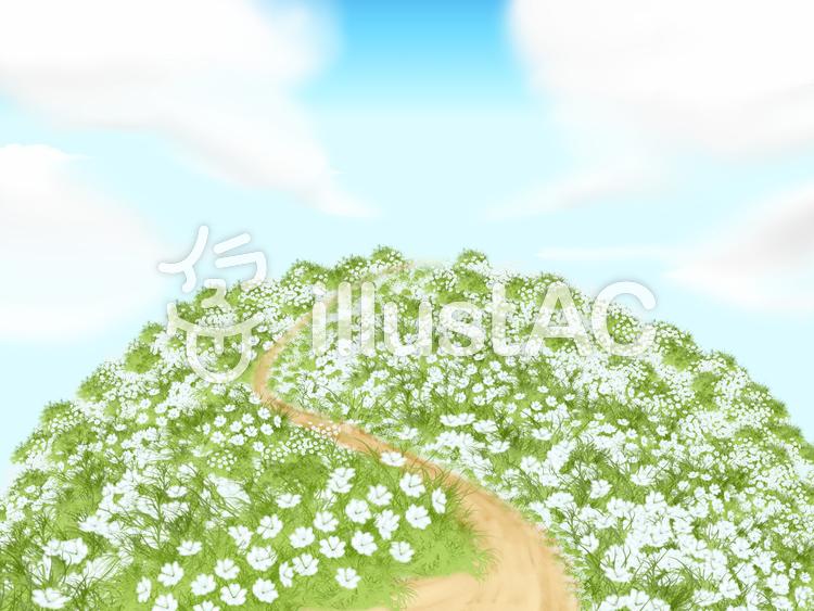 まあるい丘への道のイラスト