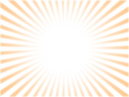 Thin orange radiation background material