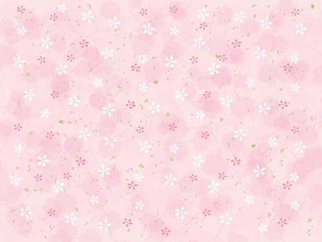 작은 꽃 무늬의 종이 _ 핑크
