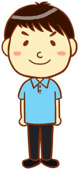 """Polo shirt male """"light blue"""""""
