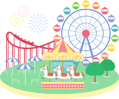Scenery of amusement park