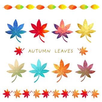 Autumn bright autumn leaves illustration