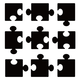 Silhouette jigsaw puzzle 9 piece