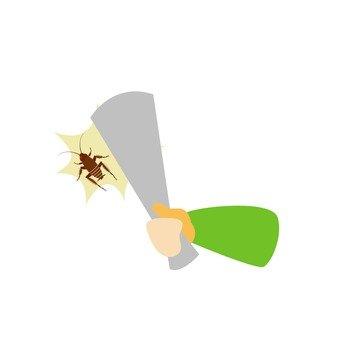 Rape cockroach · newspaper