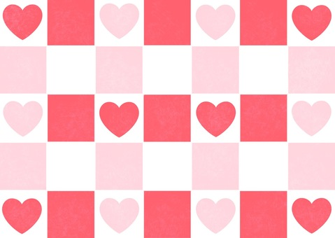 Heart and checkered flag pattern wallpaper